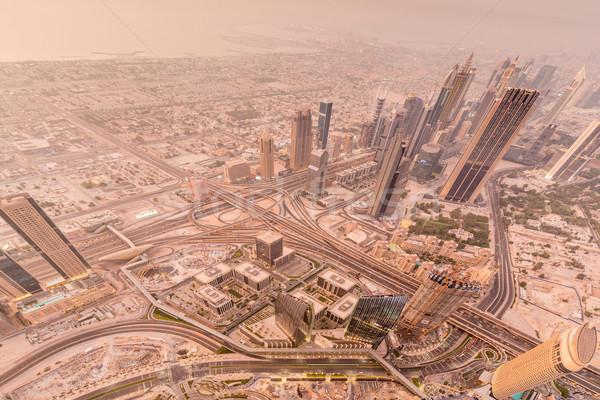 Panoráma éjszaka Dubai üzlet iroda város Stock fotó © Elnur