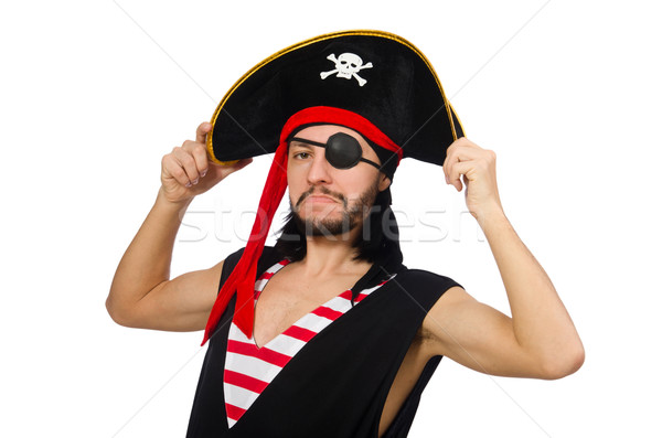 男 海賊 孤立した 白人 白 面白い ストックフォト © Elnur