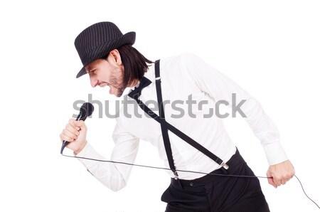 Arrabbiato uomo ax isolato bianco giovani Foto d'archivio © Elnur