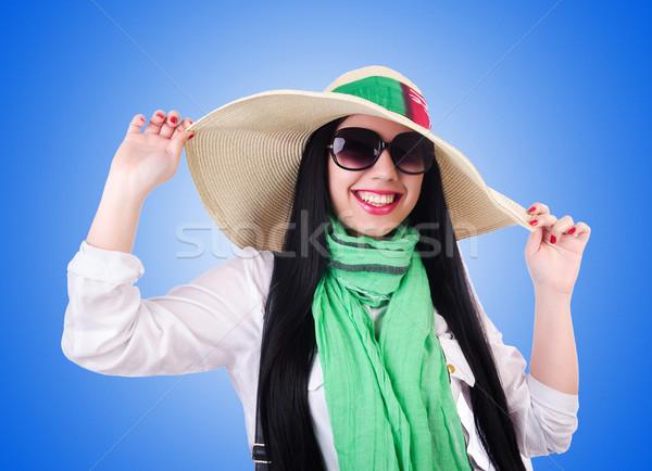 Jeune femme prêt vacances d'été affaires fille heureux Photo stock © Elnur