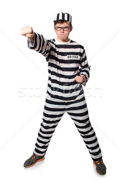 Prisoner isolated on the white background Stock photo © Elnur