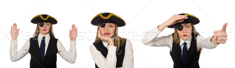 女性 上司 海賊 孤立した 白 ビジネス ストックフォト © Elnur