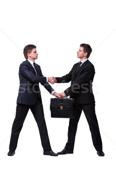 Twee tweeling broers geïsoleerd witte business Stockfoto © Elnur