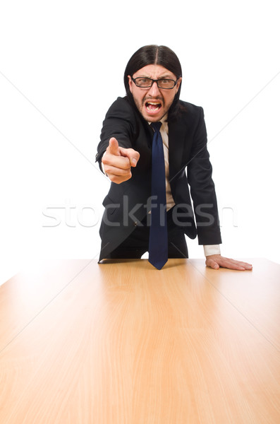 Young businessman swearing  isolated on white Stock photo © Elnur