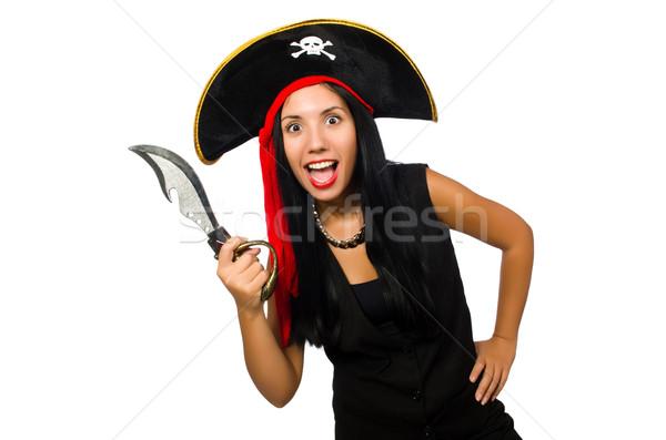 женщину пиратских изолированный белый вечеринка моде Сток-фото © Elnur
