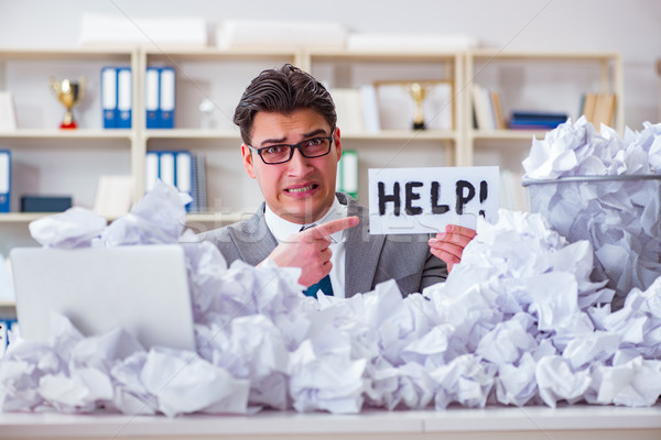 Stockfoto: Zakenman · papier · recycling · kantoor · business · werk