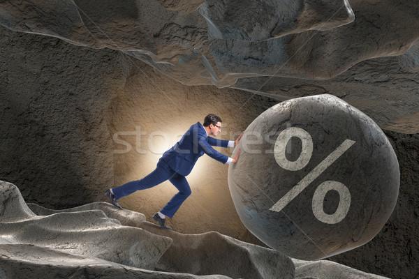 Zakenman hoog schuld business huis financieren Stockfoto © Elnur