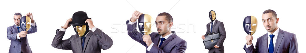 Businessman with mask in hypocrisy concept Stock photo © Elnur