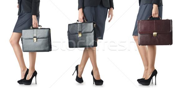 Evrak çantası işkadını iş ofis kız Stok fotoğraf © Elnur