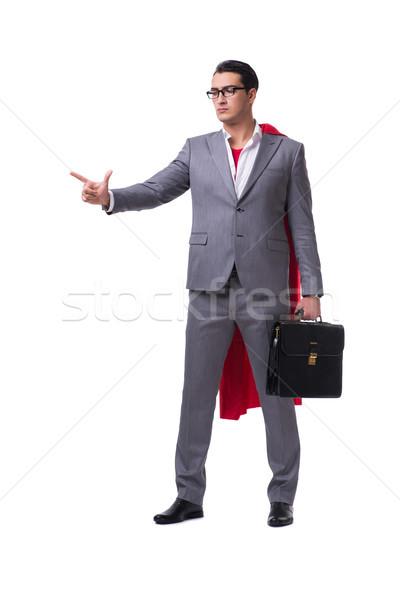 Stockfoto: Zakenman · geïsoleerd · witte · business · grappig
