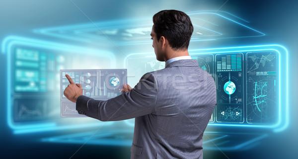 Businessman in big data management concept Stock photo © Elnur