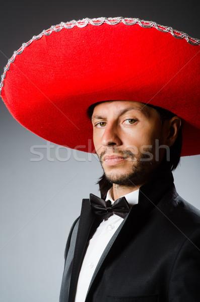 Jóvenes mexicano hombre sombrero sonrisa Foto stock © Elnur