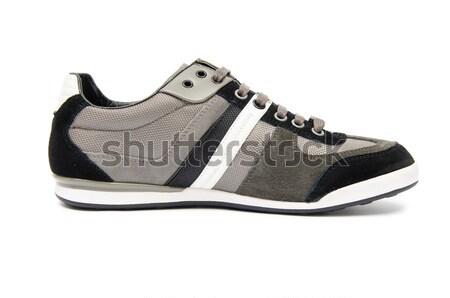 моде мужчины обувь белый черный темно Сток-фото © Elnur