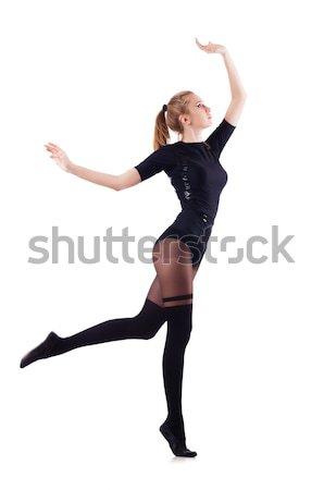 Nő tánc izolált fehér divat modell Stock fotó © Elnur