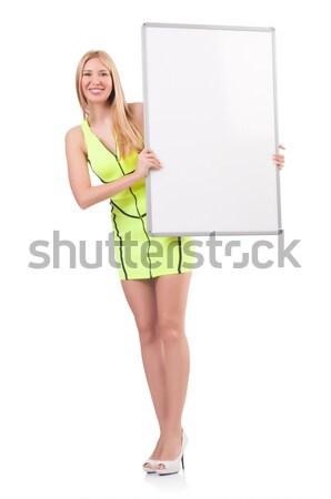 スチュワーデス ボード 白 笑顔 ファッション 夏 ストックフォト © Elnur