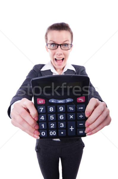 Funny accountant isolated on the white background Stock photo © Elnur