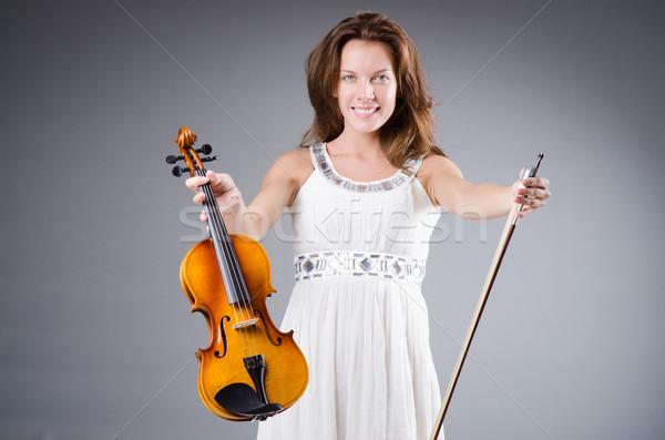女性 アーティスト バイオリン 音楽 木材 コンサート ストックフォト © Elnur