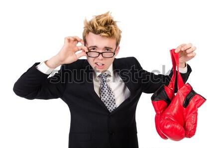 Zakenvrouw dynamiet witte business vrouw meisje Stockfoto © Elnur
