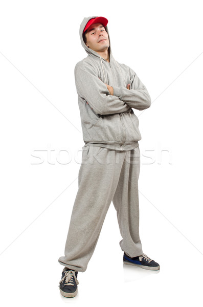Young man isolated on the white background Stock photo © Elnur