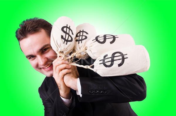 Férfi pénz fehér férfi arc boldog üzletember Stock fotó © Elnur