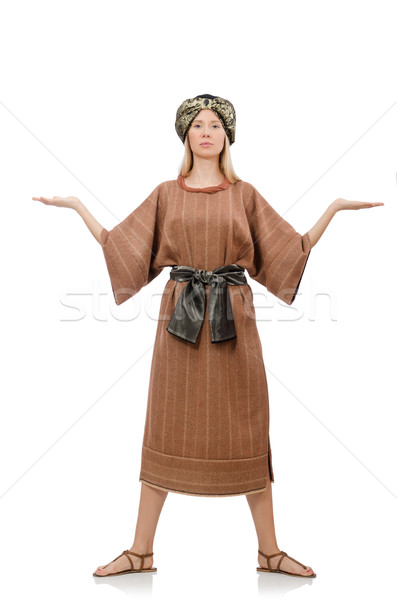 Stock photo: Woman in traditional arabian costume isolated on white