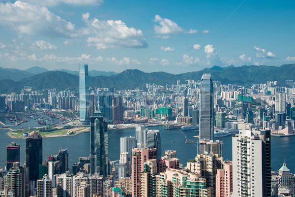 Hong Kong business landschap zee Stockfoto © Elnur