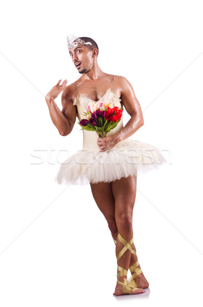 Man in tutu performing ballet dance Stock photo © Elnur