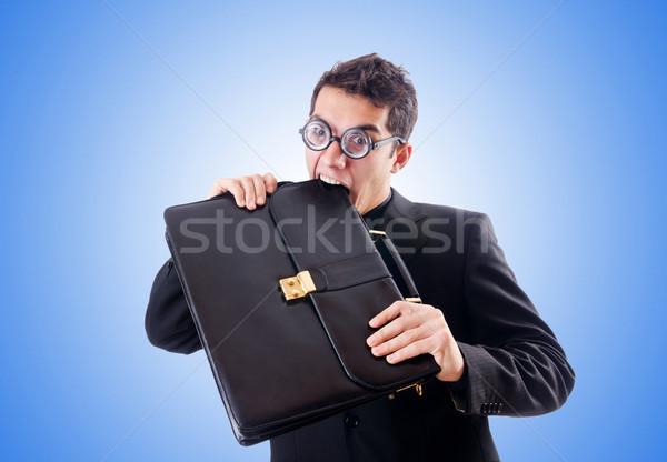 Сток-фото: NERD · бизнесмен · градиент · бизнеса · работу · костюм