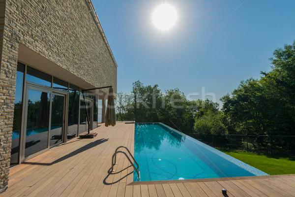 Infinito piscina brilhante verão dia céu Foto stock © Elnur
