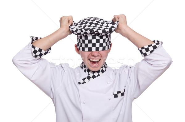 Jóvenes chef uniforme aislado blanco fondo Foto stock © Elnur