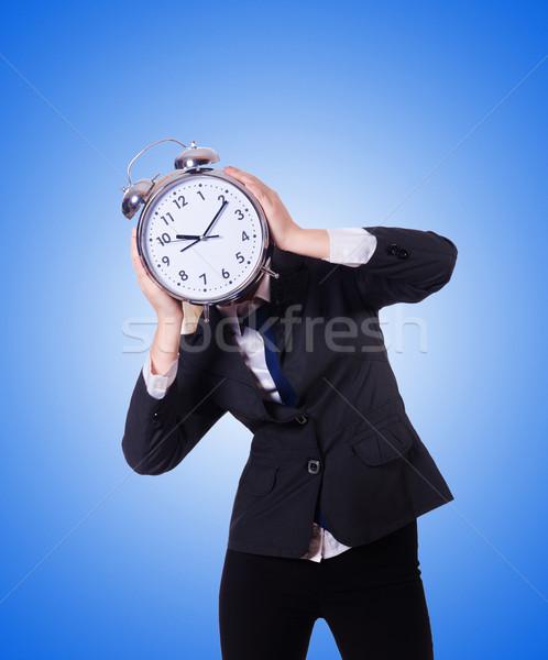 женщину гигант часы белый служба работу Сток-фото © Elnur