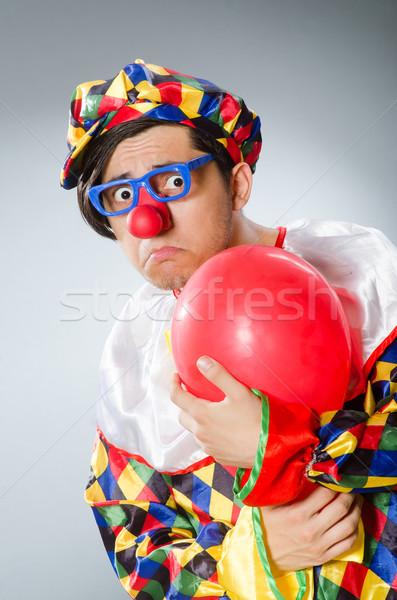Clown balony funny szczęśliwy zabawy tęczy Zdjęcia stock © Elnur