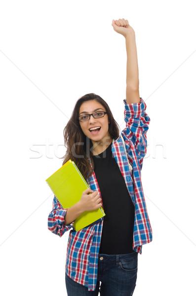 Młodych student odizolowany biały kobieta Zdjęcia stock © Elnur
