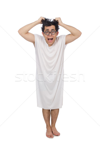 Funny man suffering from mental disorder Stock photo © Elnur