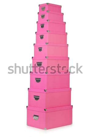 Pink giftboxes isolated on white Stock photo © Elnur
