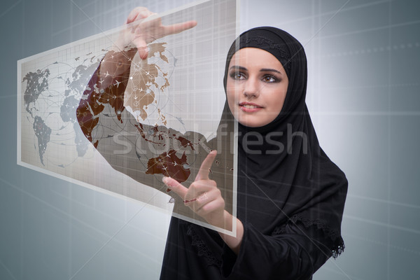 Arab woman in air travel concept Stock photo © Elnur
