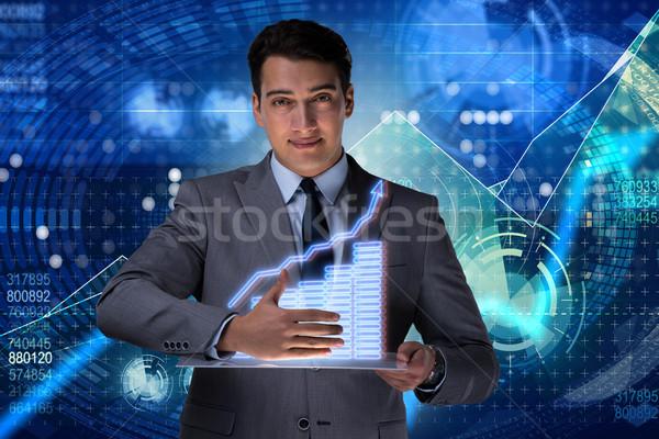Stock foto: Mann · hat · Handel · Geschäftsmann · Business · Geld