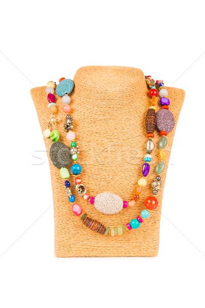 Jewellery necklace isolated on white background Stock photo © Elnur