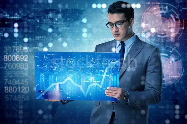 Imprenditore online di trading mano internet lavoro Foto d'archivio © Elnur