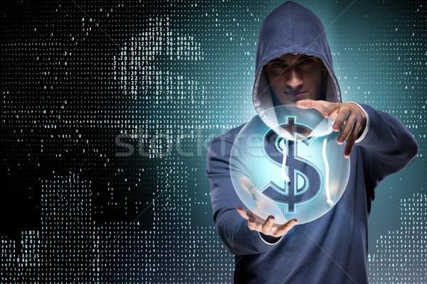 Hacker hackelés bankügylet pénzügyi üzlet számítógép Stock fotó © Elnur