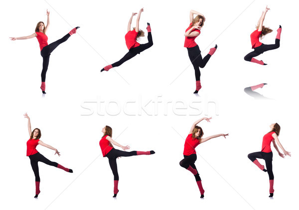 молодые гимнаст белый женщину девушки Сток-фото © Elnur