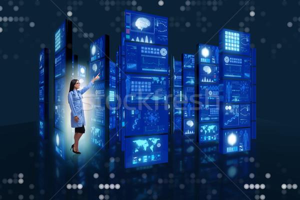 Zdjęcia stock: Lekarza · przyciski · komputera · streszczenie · technologii