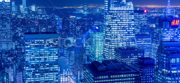 表示 ニューヨーク マンハッタン 日没 ビジネス 空 ストックフォト © Elnur