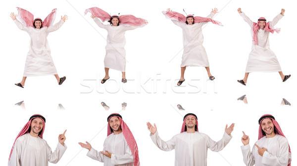 арабских человека изолированный белый бизнеса счастливым Сток-фото © Elnur