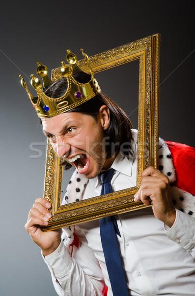 Młodych króla biznesmen królewski człowiek garnitur Zdjęcia stock © Elnur