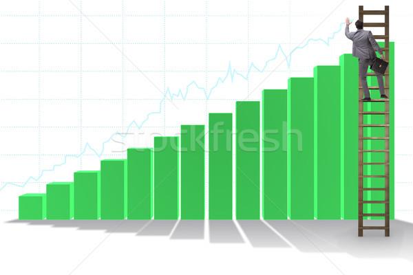 Imprenditore climbing crescita statistiche business soldi Foto d'archivio © Elnur