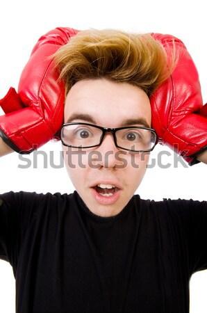 деловая женщина динамит белый бизнеса женщину девушки Сток-фото © Elnur