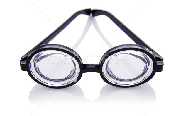 Funny nerd glasses isolated on white Stock photo © Elnur