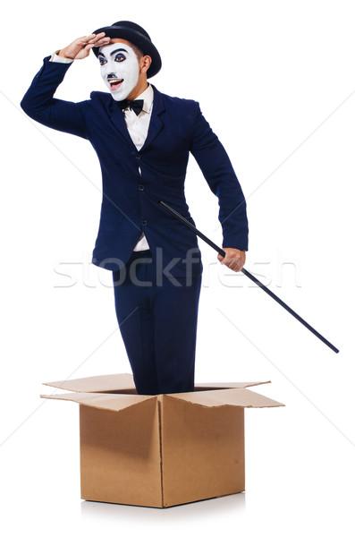 Homme canne boîte costume film portrait Photo stock © Elnur