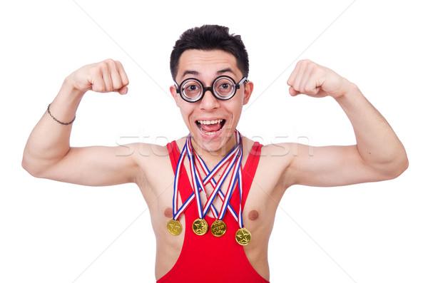 面白い レスラー 勝者 金メダル 男 金 ストックフォト © Elnur
